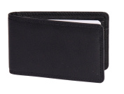 Genuine Leather Small Bifold Travel Oyster Bus Pass Holder Credit Card Wallet with Gift Box HLG5