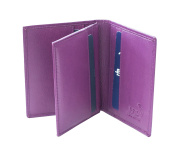 Prime Hide RFID SAFE Soft leather Credit Card Holder Wallet Boxed Fuchsia
