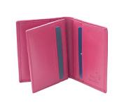 Prime Hide RFID SAFE Soft leather Credit Card Holder Wallet - Boxed Berry