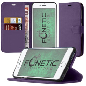(Purple) Motorola Moto G5 Plus Case Wallet Case Cover With Card Holder and LCD Screen Protector - Fonetic Solutions