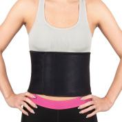Proworks Adjustable Neoprene Sauna Belt | Waist Trimmer for Training and Abdominal Weight Loss - Unisex - Black