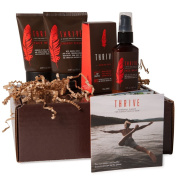 Thrive VIP Kit - 4 Piece Grooming Gift Set for Men to Wash, Exfoliate, Shave, and Moisturise Daily; Made with Organic and Unique Premium Natural Ingredients for Healthier Skin Care