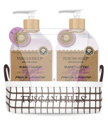 Tuscan Hills French Lavender Hand Wash & Lotion Set With Fabric Caddy