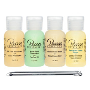 RococoLife acne control solutions 5 pc acne kit set to remove acne pimple and improve skin tone