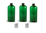 240ml Empty Green Plastic Oval Bottle with Cap
