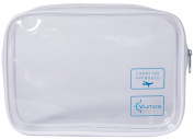 Clear Travel Bag for your Carry On Toiletries and Liquids. Quart size is 3-1-1 TSA Approved for Airport and Airline Security