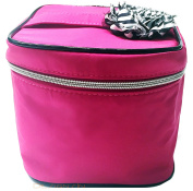 Macy's 2015 Pink Cosmetic Makeup Train Case Travel Bag, Small