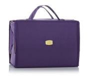 Joy Mangano Deluxe XL Better Beauty Case ~Purple