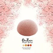 Onzen Konjac Sponge All Natural Japanese Facial Sponge with Blooming cherry