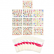 ALLYDREW Nail Art Kit - Funky Nail Art Stickers Nail Decals & Nail Art Stencils Nail Guides
