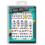 L.A. Colours 3D Nail Sticker Collection - Night Hero
