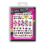 L.A. Colours 3D Nail Sticker Collection - 80's Vibe