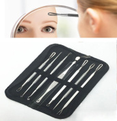YANQINA 7Pcs/Kit Stainless Steel Blackhead Remover Tools Acne Extractor Tool for Face Care