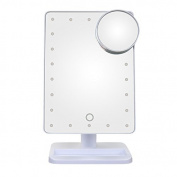 Bingirl 22 LED Touch Screen Makeup Mirror Professional Portable Vanity Mirror Lights Health Beauty Adjustable Countertop 180 Rotating