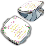 BleuReign(TM) Personalised Custom Floral Bible Verse Proverbs Mom Compact Mirror