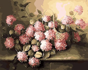 Prime Leader Wooden Framed Diy Oil Painting, Paint by Number Kit 41cm x 50cm pink hydrangea