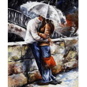 Awakingdemi 5D Diamond Painting ,Rain Lovers 5D Diamond DIY Painting Kit Rhinestones Cross Stitch Craft DIY Home Decor