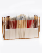 Pebble Art 36 Paint Brushes Set - Natural & Synthetic Art Brushes for Oil, Acrylic & Watercolour Painting