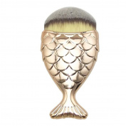 NOMENI Fish Scale Makeup Brush Fishtail Bottom Powder Blush Makeup Cosmetic