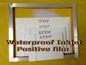 Waterproof Inkjet Transparency Film for Silk Screen 22cm x 28cm - 2 Pack
