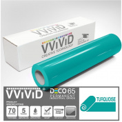 VViViD Turquoise Gloss 30cm x 210cm (2.1m) DECO65 Permanent Adhesive Craft Vinyl for Cricut, Silhouette & Cameo