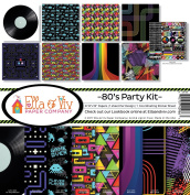 Ella & Viv by Reminisce 80's Party Scrapbook Collection Kit
