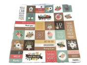 Hello Quote Squares 12x12 Scrapbook Craft Paper - 4 Sheets