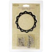 Ultimate Crafts Rambling Rose Stamp & Die Set-Grateful 7.9cm x 7.9cm Die