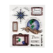 Holiday Journey Design Clear Stamps For DIY Decorative Gift Card Metal Crafts Embossing Folder Arts