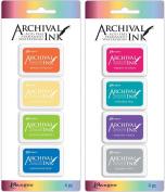 Ranger Mini Archival Ink Pad Kits #3 & #4 - 2 item Bundle