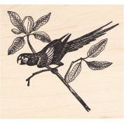 Macaw Rubber Stamp Parrot
