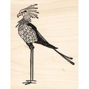 Deco Secretary Bird Rubber Stamp Birds Animals
