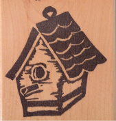 Classic Birdhouse HOT POTATOES Wood Mounted Rubber Stamp
