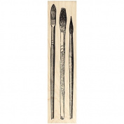Assorted Artist's Brushes Rubber Stamp