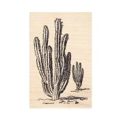 Large Saguaro Cactus Rubber Stamp