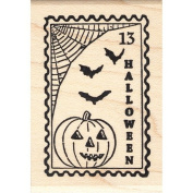 Halloween Post Rubber Stamp Faux Postage