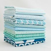 Aqua - Light Blue Half Yard Bundle (LB.10HY) by Mixed Designers for Southern Fabric