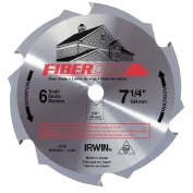 Irwin 15702ZR 18cm - 0.6cm 6-Tooth Fibre Cut Cement Board Saw Blade