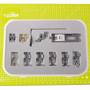 YICBOR 11pcs Snap On Presser foot Set For Pfaff Creative Quilt Expression Tiptronic Select Sewing Machine