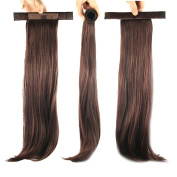 USIX 48cm Hair Piece Band Ponytail Extension Straight Nature Looking Heat-Resisting Ponytail Extension
