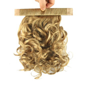 USIX 25cm Hair Piece Band Ponytail Extension Short Curly Nature Looking Heat-Resisting Ponytail Extension