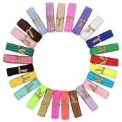 M-Aimee Fold over Elastics Stretch Hair Ties Headbands for Baby Girls Hair Bow, 25 Colours, 1 Yard Each One