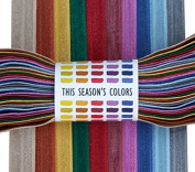 This Season's Colours Fall Fold Over Elastic, Stretch FOE Trim in Yards
