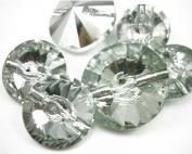 DIY Rhinestone Button Crystal Flatback Crowns Embellishments Sewing On Wedding Dress 25MM