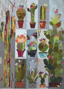 Collage Cactus Sampler Laura Hein Fiberworks Fusible Art Quilt Pattern