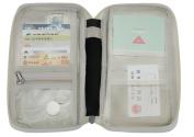 Mulit-purpose Passport Wallet Holder Zippered Travel Document Organiser iPhone Cell Phone Ticket Passport Cash Card Key Case Holder Storage Clutch Bag Purse Wallet Black