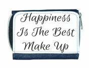 Happiness Is The Best Make Up Make Up Statement Ladies Purse - Blue