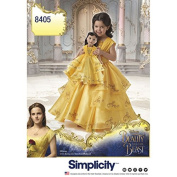 Simplicity 8405 Beauty and the Beast Costume for Child and 46cm Doll (SIZE 3-8) SEWING PATTERN