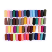 WinnerEco Polyester Sewing Thread, 60 Colours 250 Yard Polyester Embroidery Sewing Machine Threads