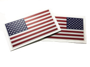 Colour Reversed And Forward SET American Made 3m Reflective US Patriotic Flag Sticker Durable USA Decal 10cm X 6.4cm